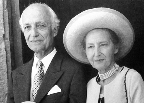 Christian de Maillard et son épouse