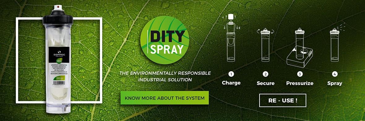DITYSPRAY the refillable spray can